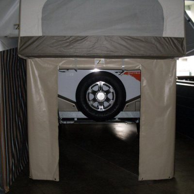 Storage Surround Under Bed Ends on Jayco Campers
