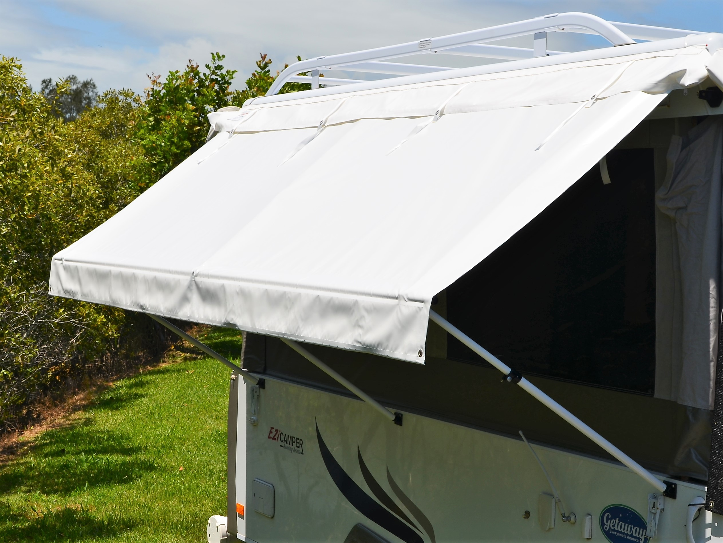 Offside Kitchen Awning | Kakadu Annexes